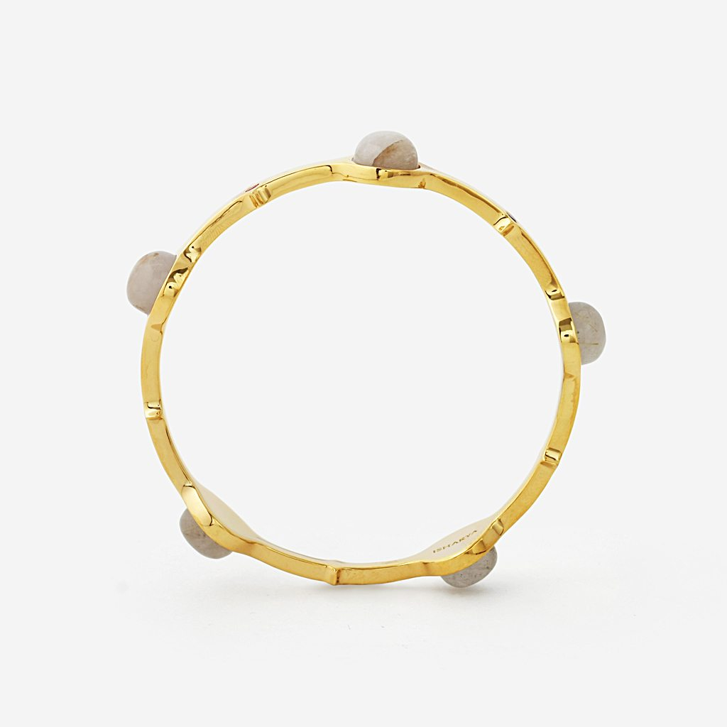 Isharya Temple Muse Golden Rutile Stackable Bangle Bracelet