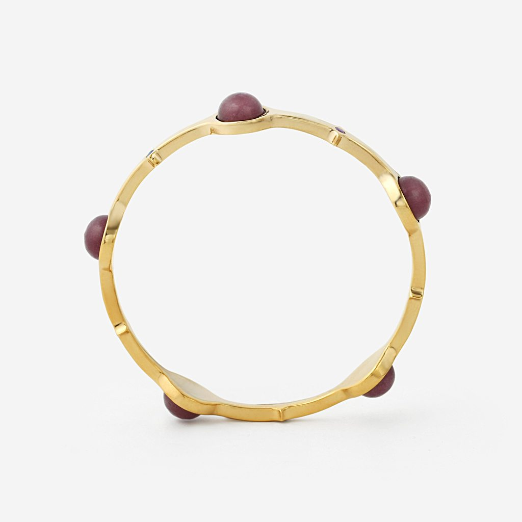 Isharya Temple Muse Marsala Quartz Stackable Bangle Bracelet