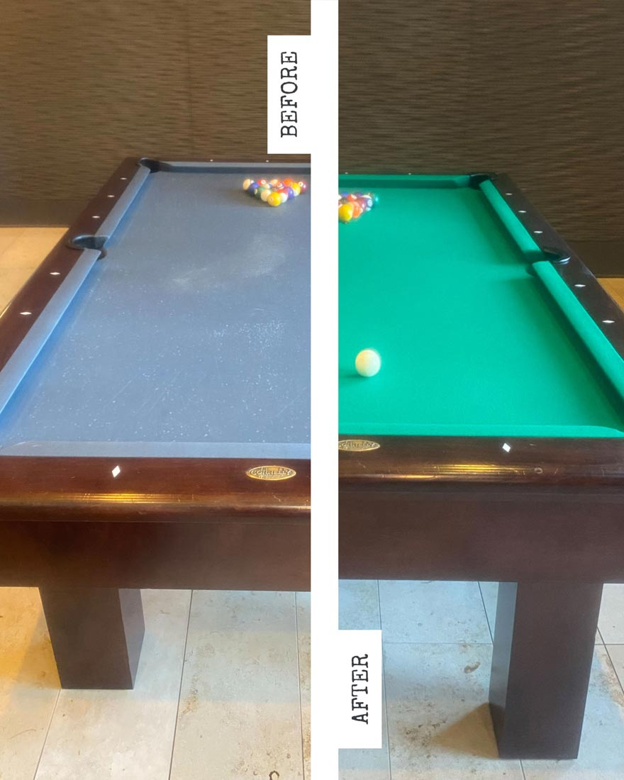 Apartment Pool Table Service