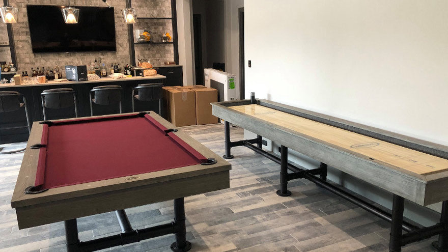 Modern Bedford Game Room Install