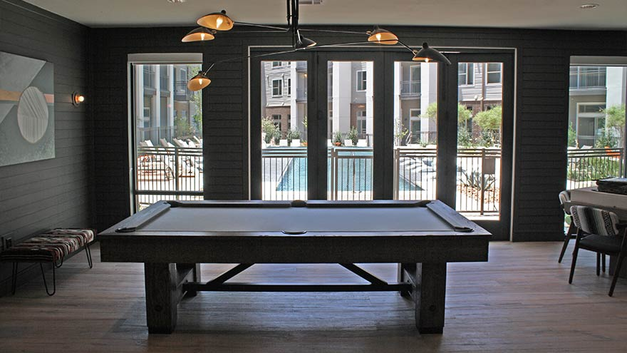 Rustic Pool Table Apartment Recreation Austin Texas