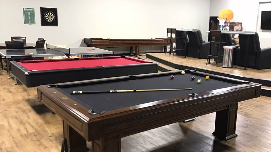 Pool Table Install for Dude Perfect in Frisco Texas