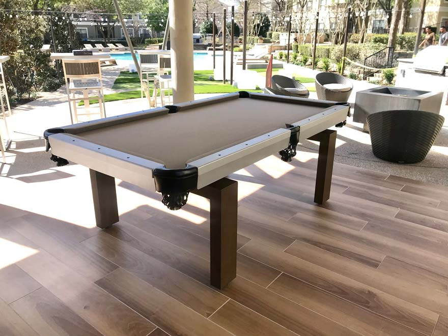 Outdoor Pool Table Apartments Poolside