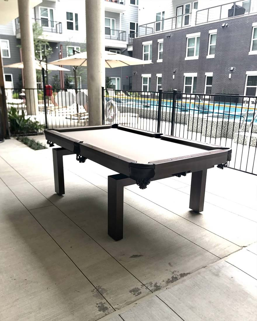 Modern Outdoor Pool Table Dallas Texas