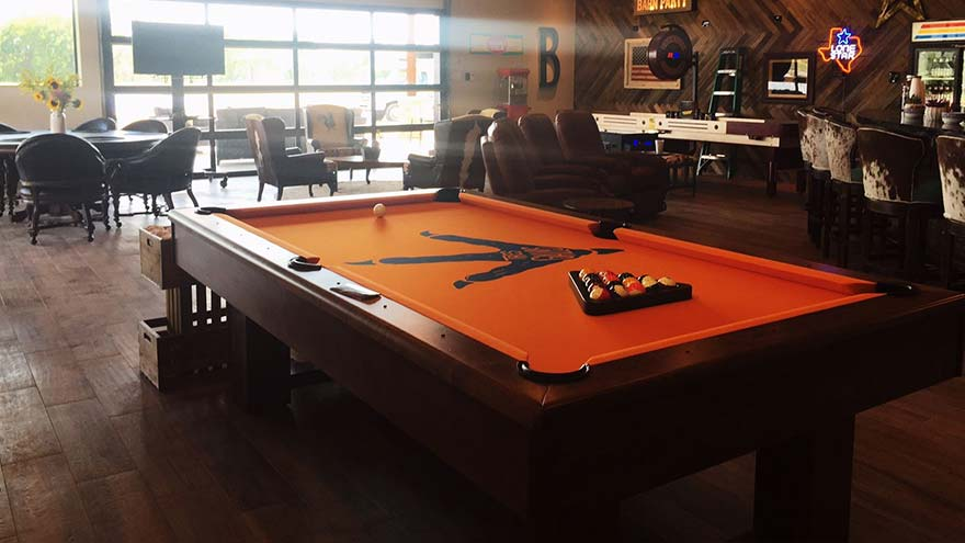 Custom Felt Del Sol Pool Table