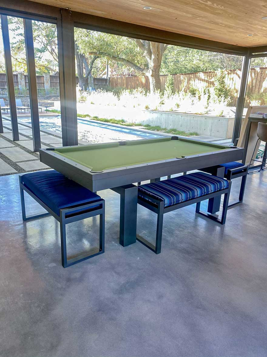 Patio Game Room Pool Table