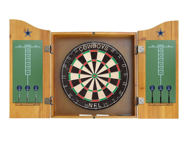 Cowboys Dart Cabinet Set