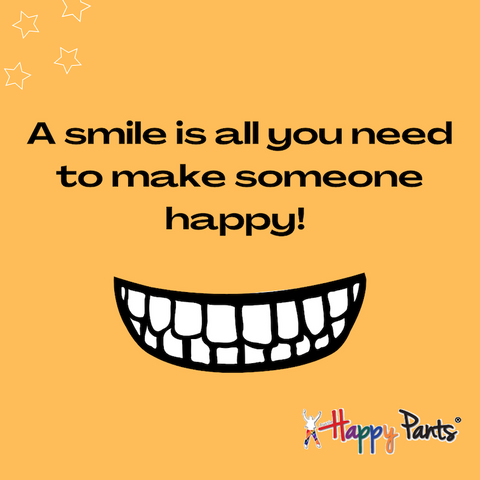 A smile is all you need to make someone happy
