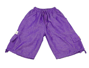 Purple plain Capri Boardshorts - Happy Pants