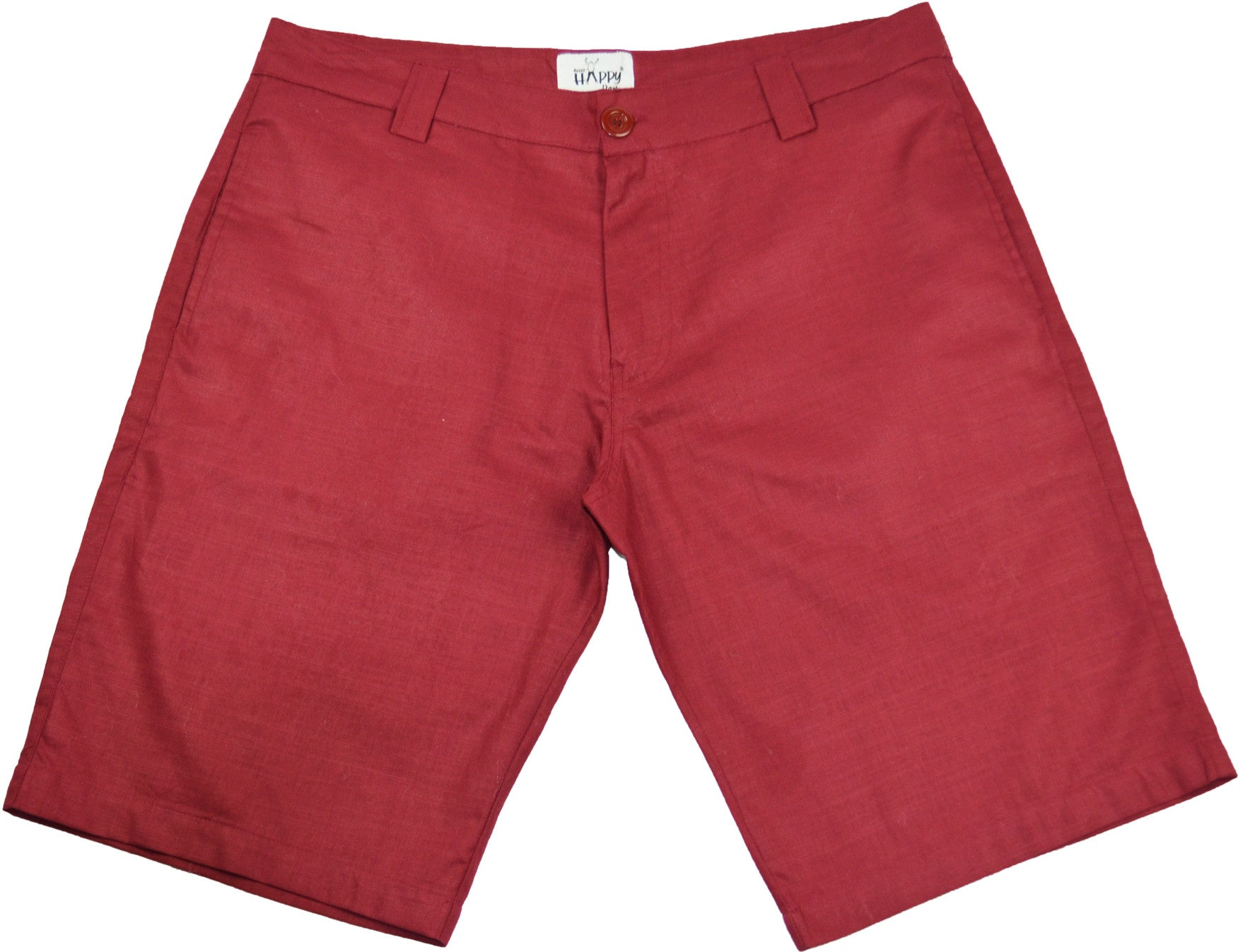 Burgundy Red Cotton BoardShorts - Happy Pants - 1