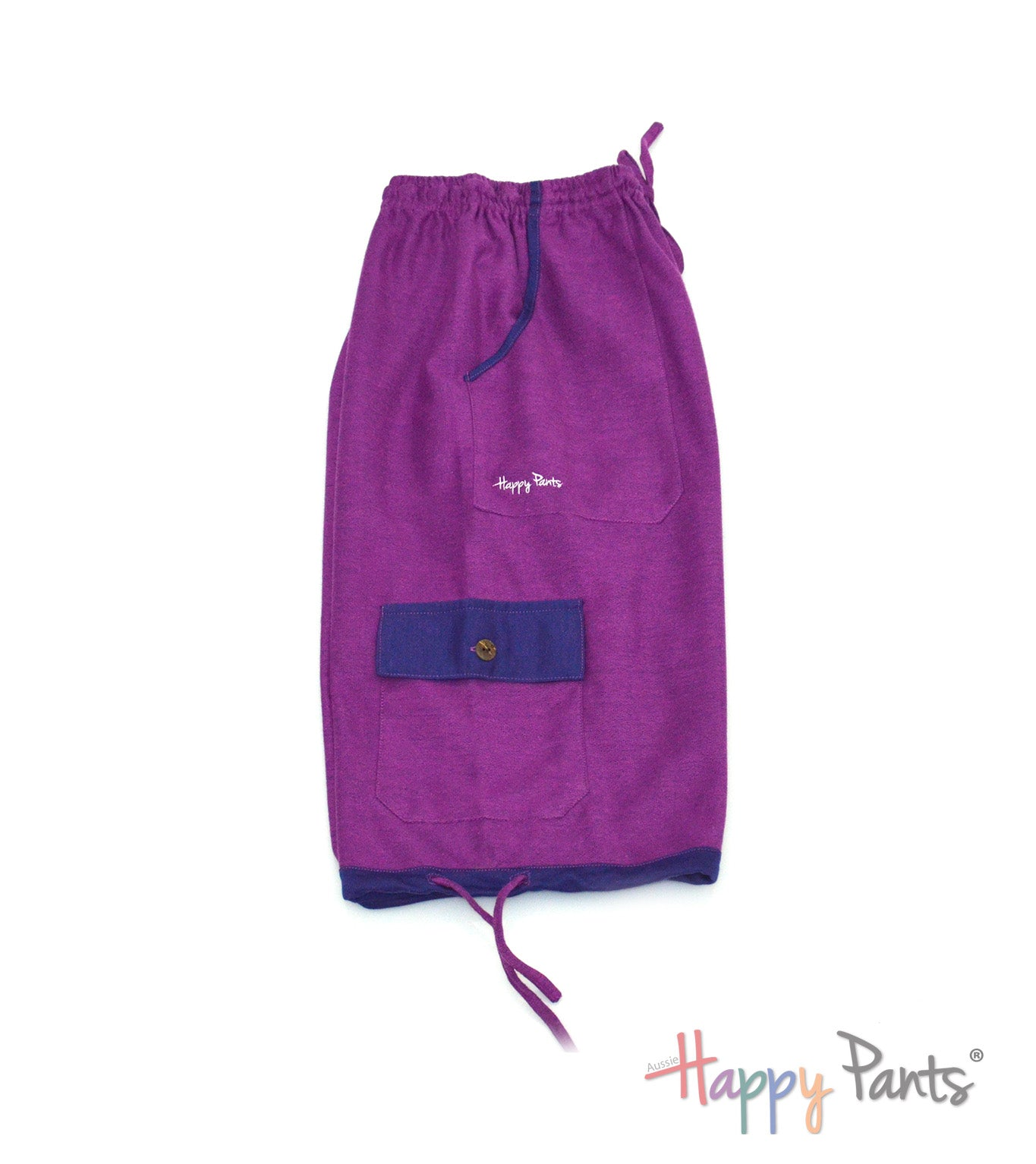 Amethyst Purple Three Quarter Shorts