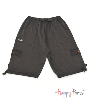 Diamond Black Three Quarter Shorts