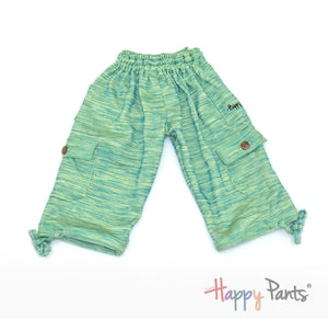 Midori Splash Green Kids Boardshorts 3/4 Shorts