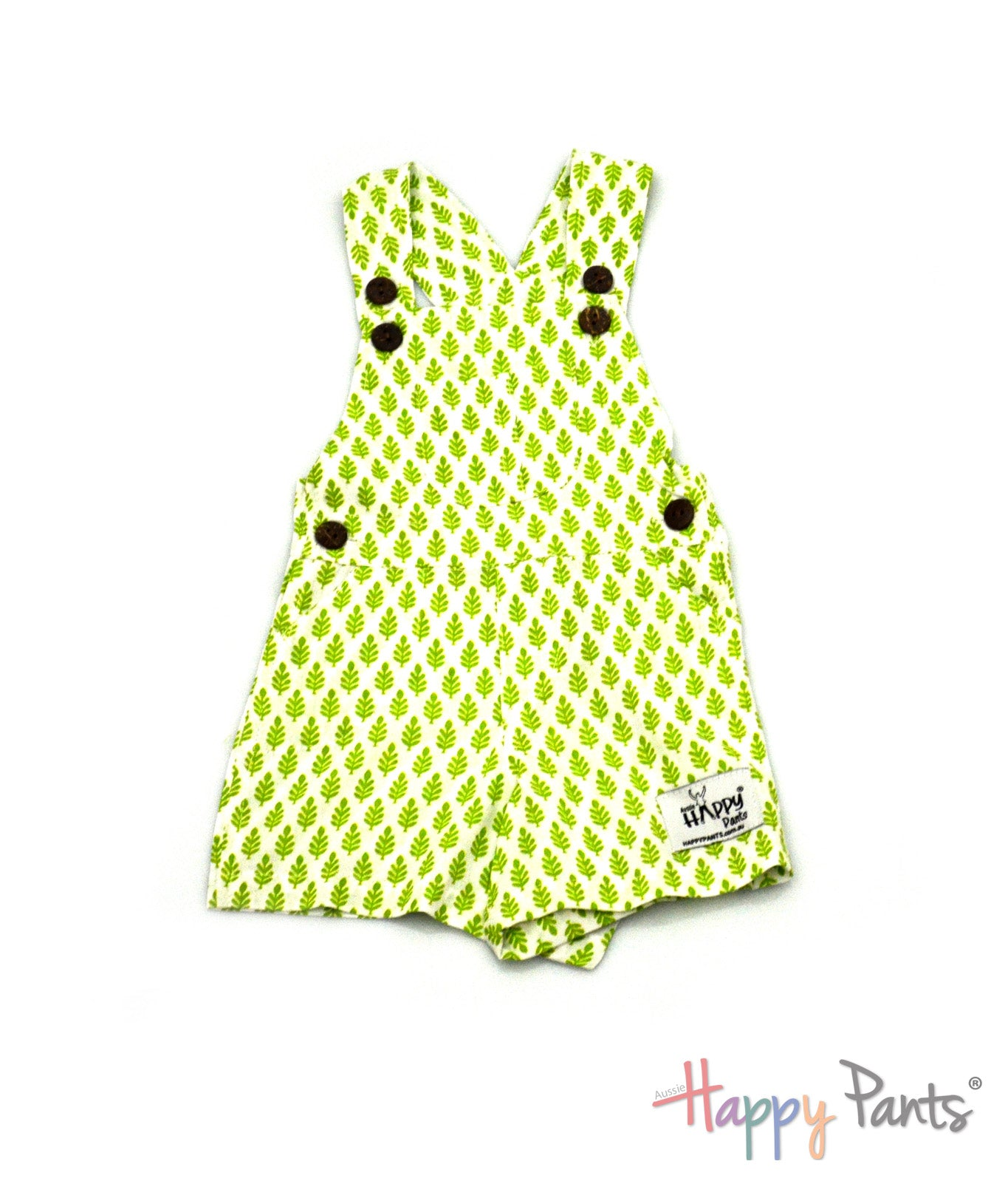 Kiwi Punch Green Short Overall
