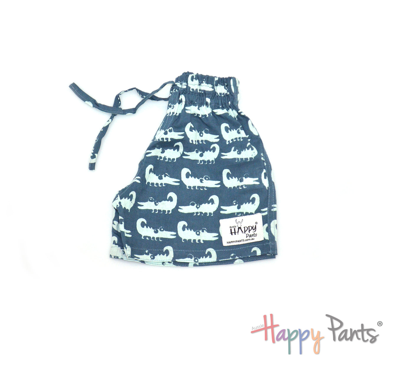 Curious Croc Blue Kids Shorts
