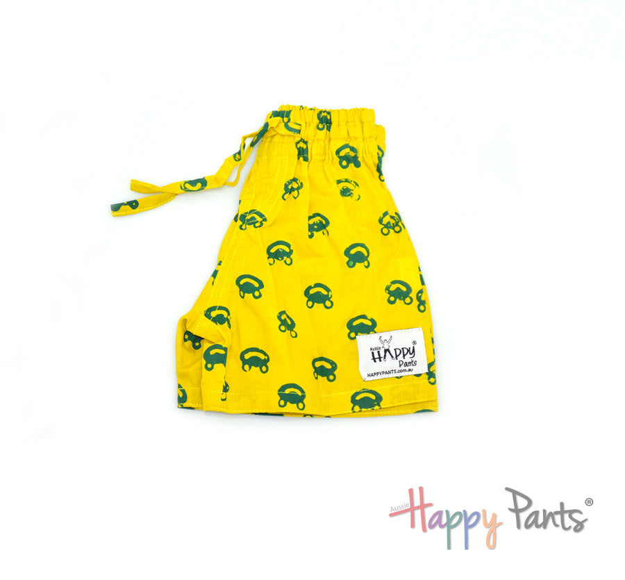 Happy Frog Yellow Kids Shorts