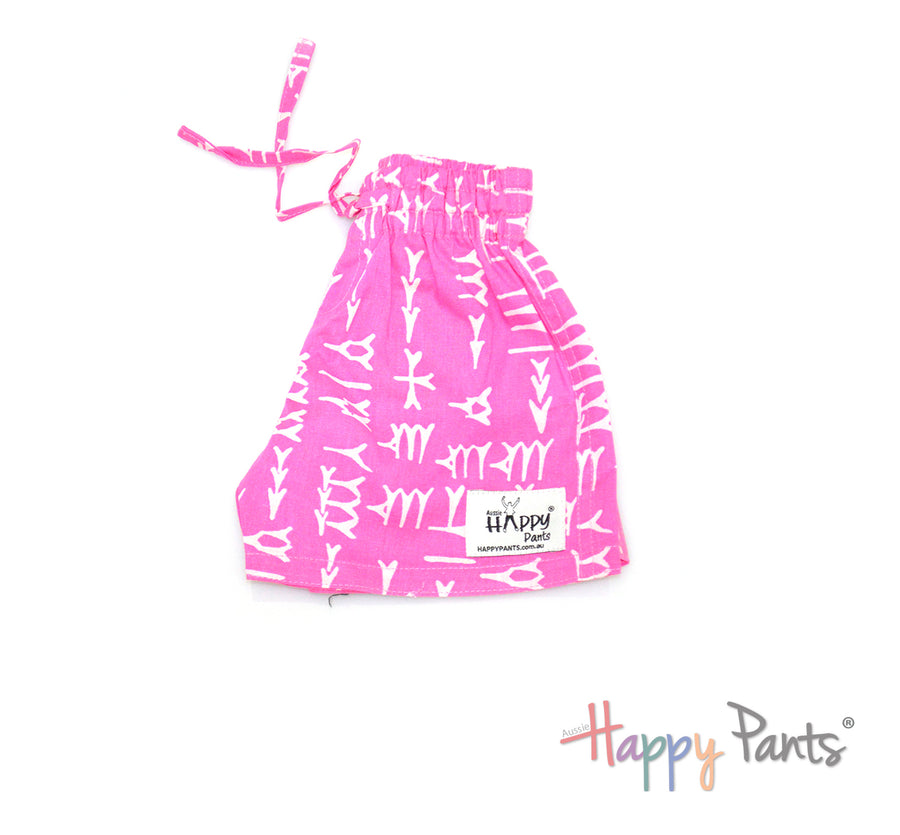 Funky Tracks Pink Kids Shorts