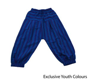 Blue Bohemian Youth Pants - Happy Pants
