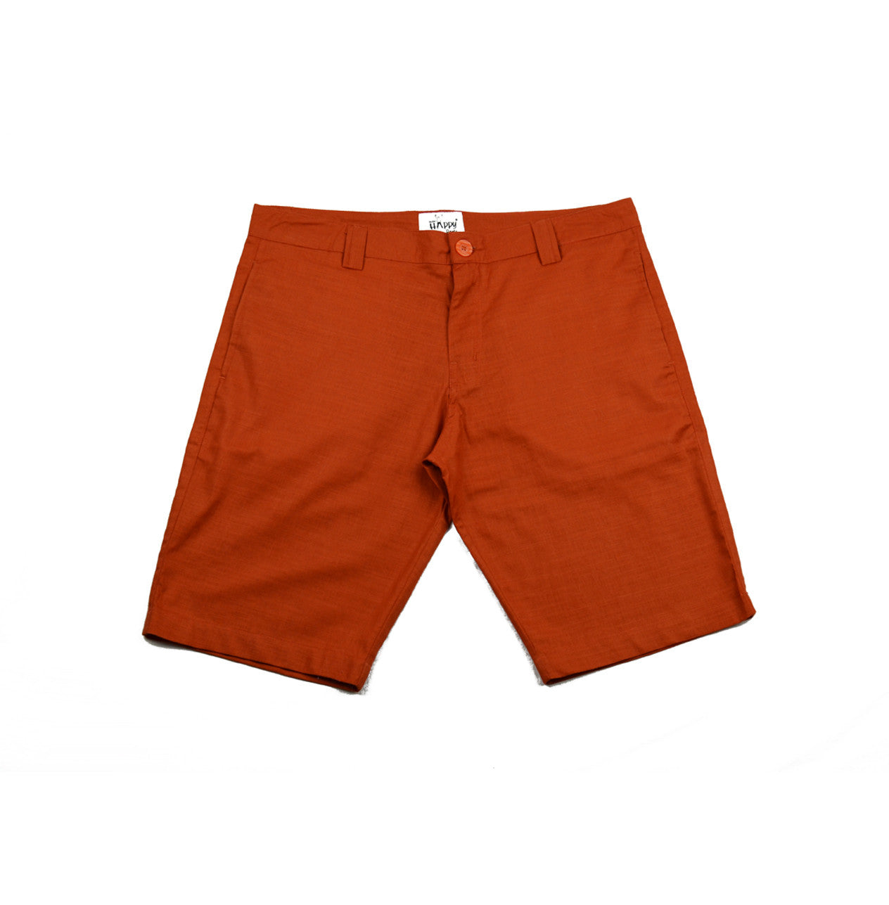 Orange Cotton Shorts - Happy Pants - 1