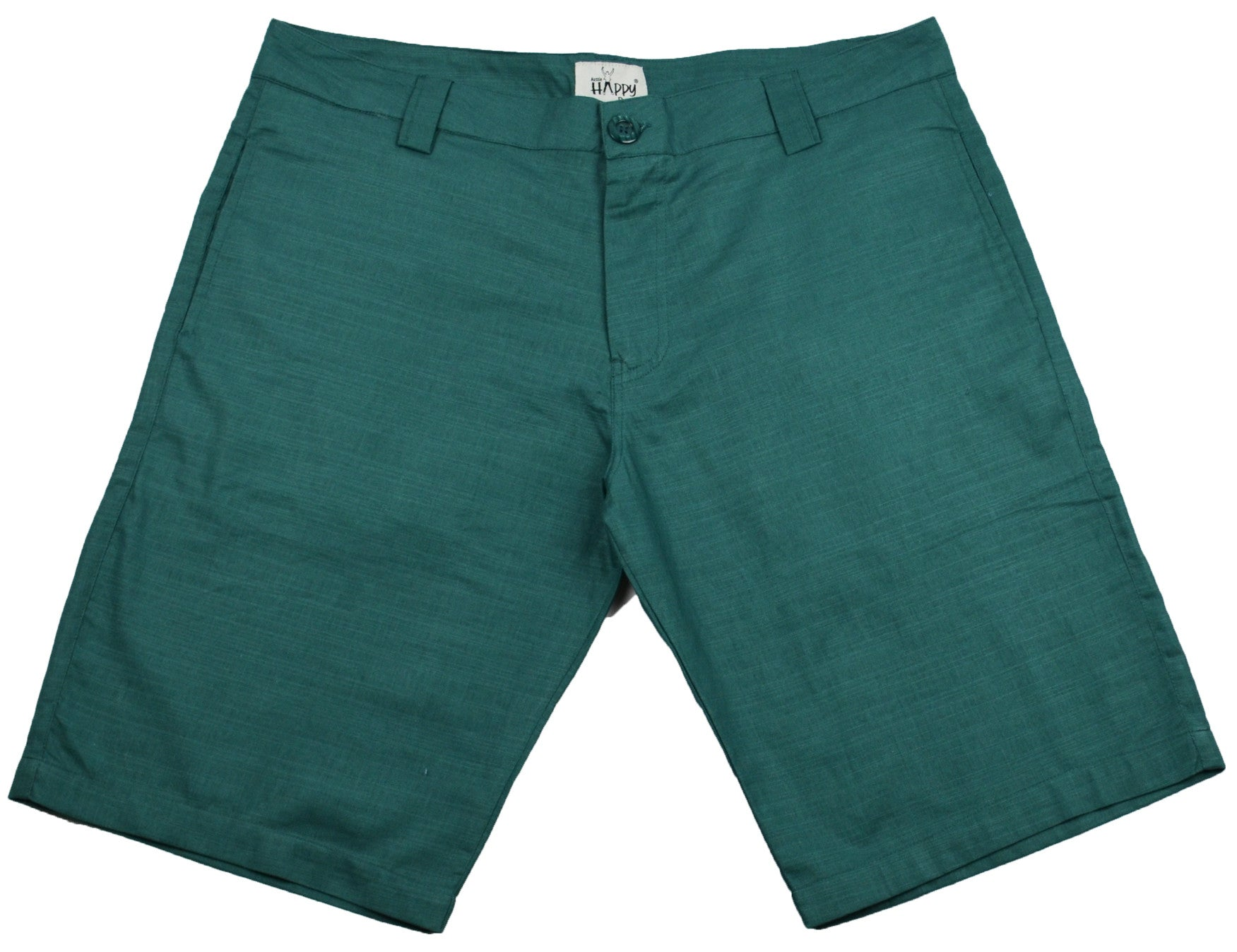 Green Cotton Shorts - Happy Pants - 1