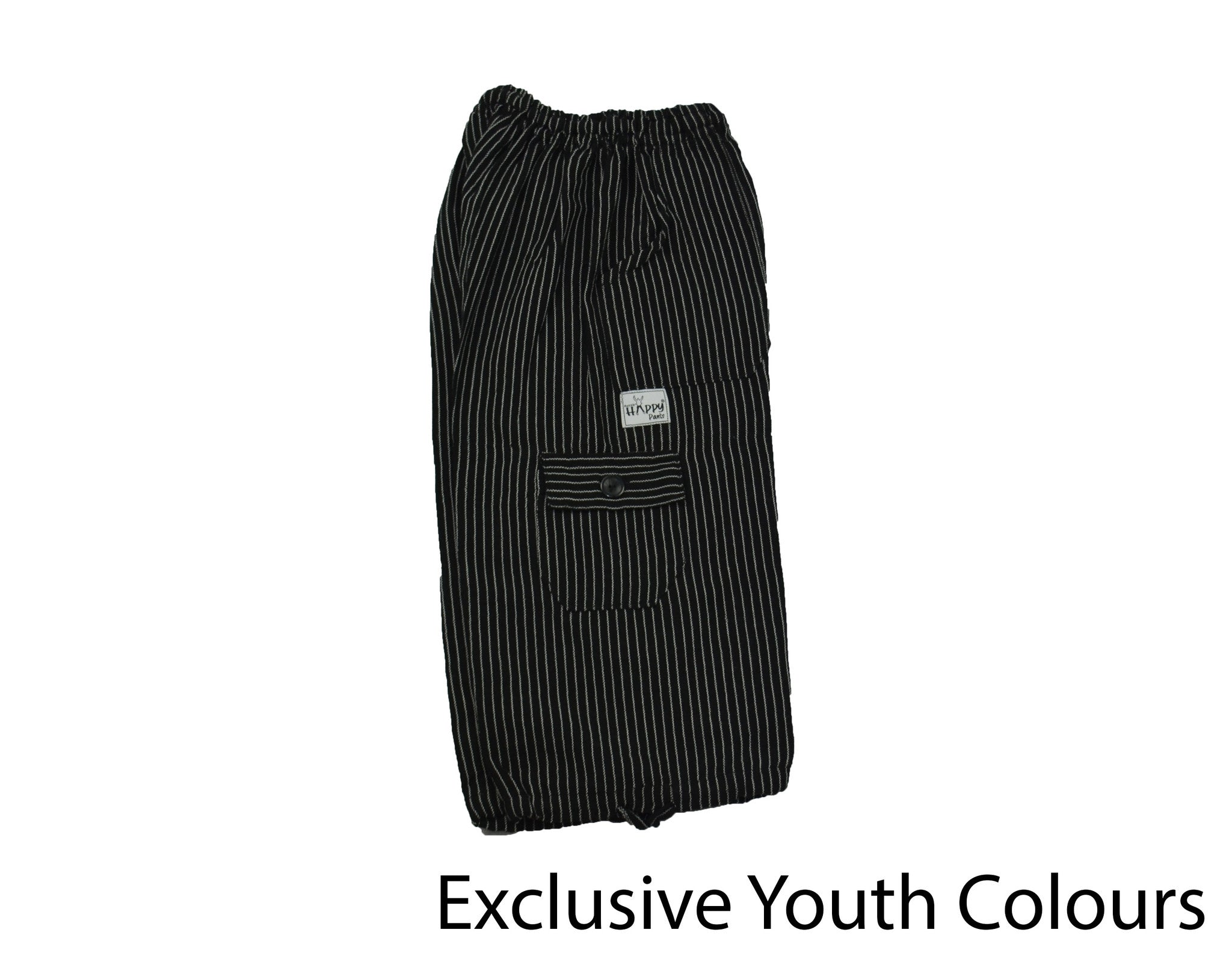 Black Youth Boardshorts - Happy Pants