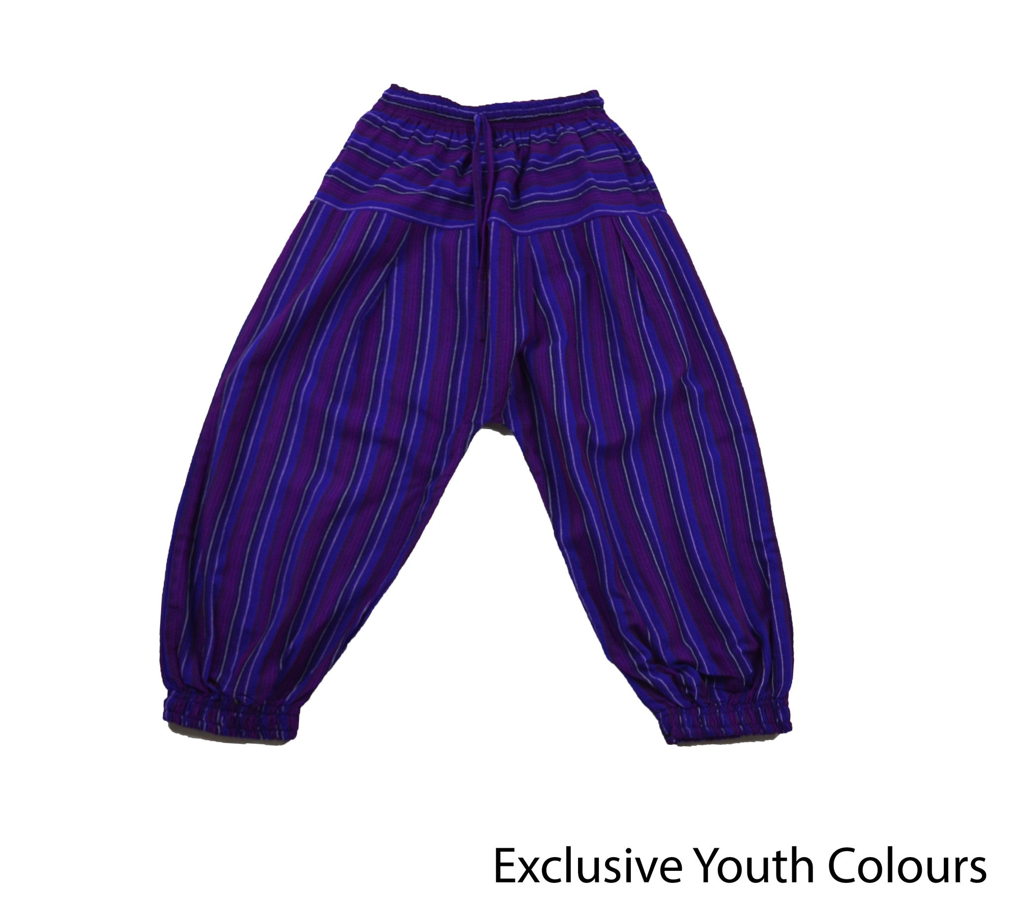 Purple Bohemian Youth Pants - Happy Pants