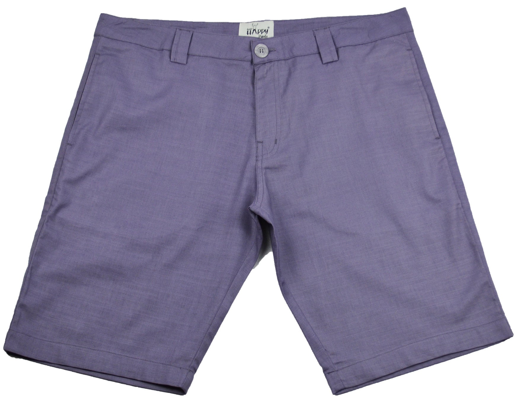 Purple/Gray Cotton Shorts - Happy Pants - 1