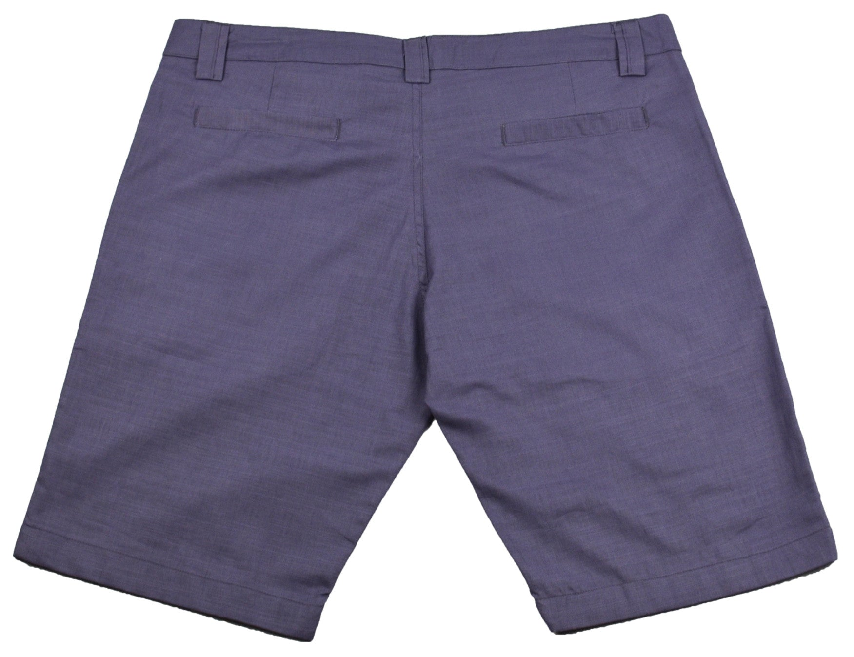 Purple/Gray Cotton Shorts - Happy Pants - 2