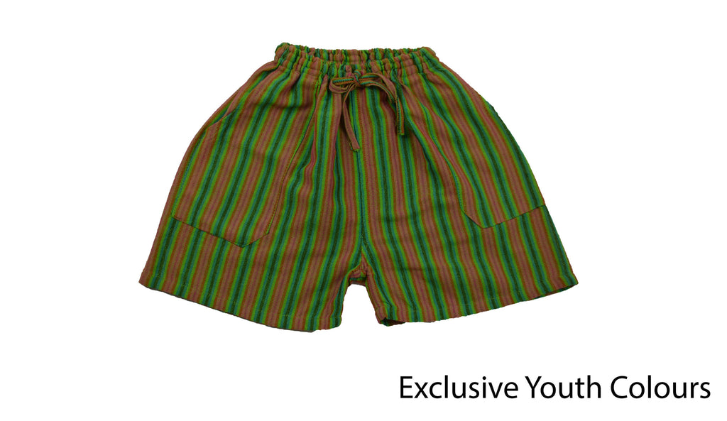 Youth Green shorts - Happy Pants