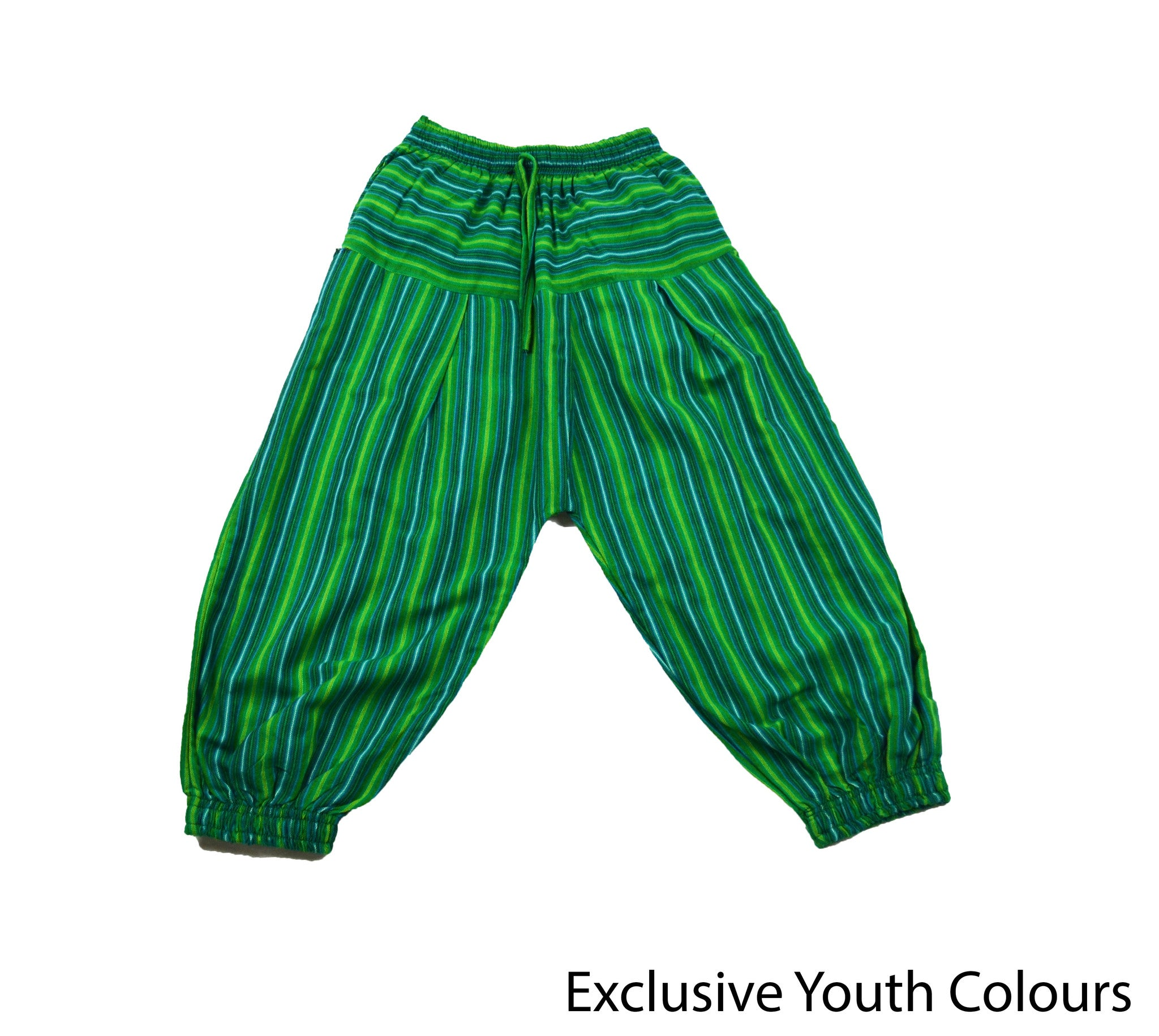 Green Bohemian Youth Pants - Happy Pants