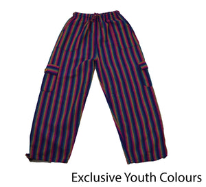 Electric Blue Youth Pants - Happy Pants
