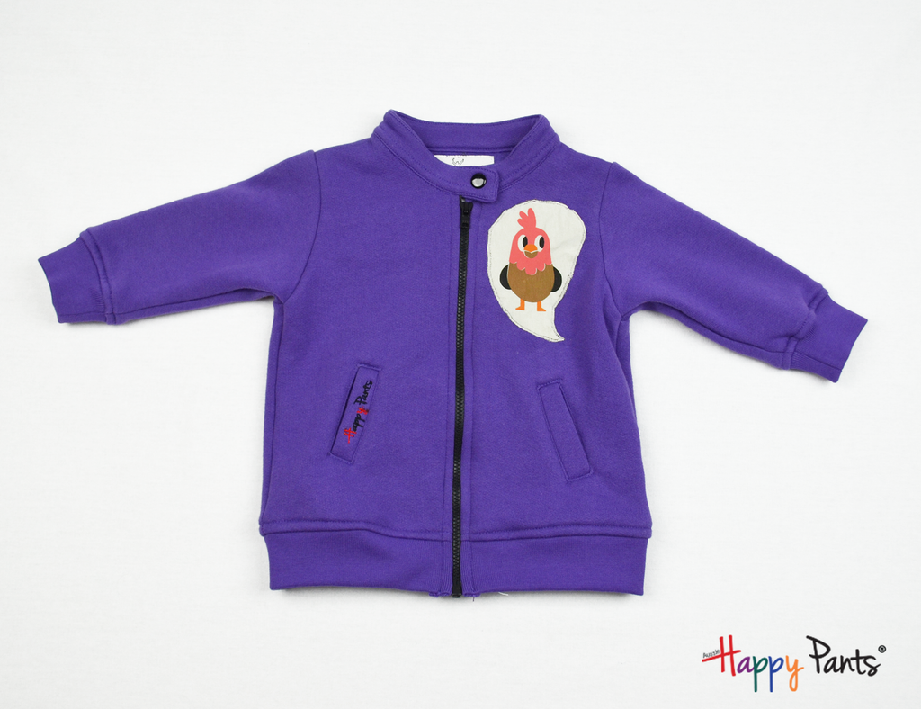 Purple Kids Fleece Jacket - Happy Pants