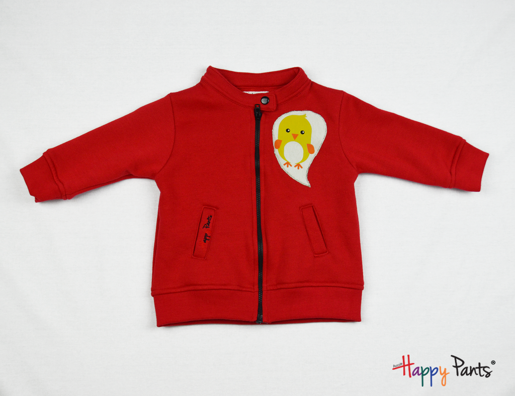 Red Kids Fleece Jacket - Happy Pants