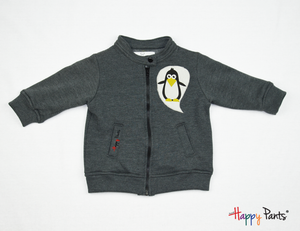 Gray Kids Fleece Jacket - Happy Pants