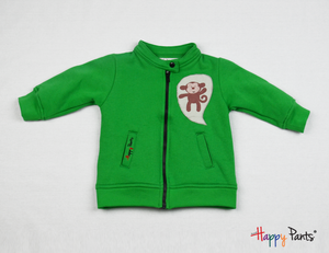 Green Kids Fleece Jacket - Happy Pants