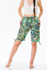Tropical Three Quarter Shorts