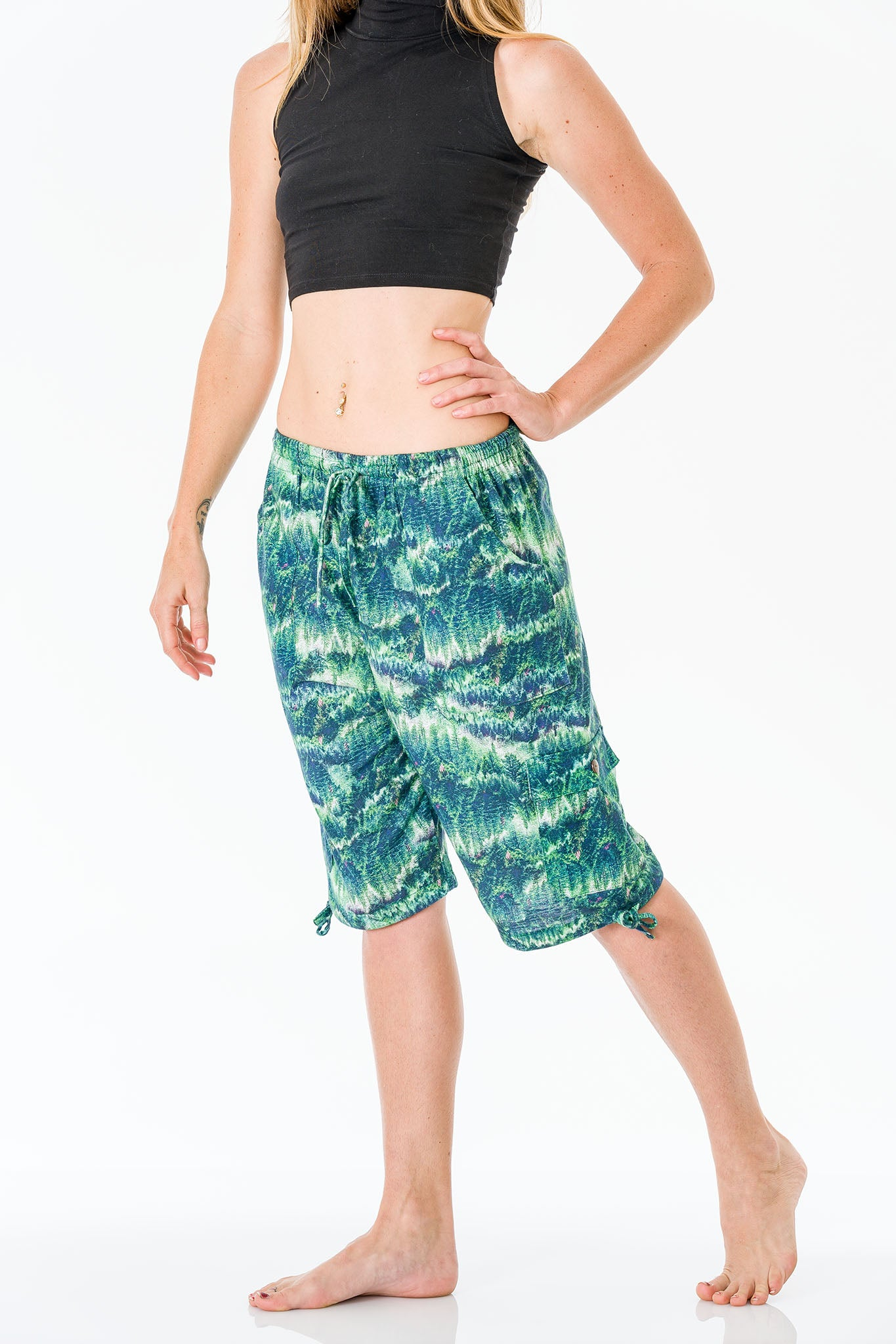 Evergreen Three Quarter Shorts