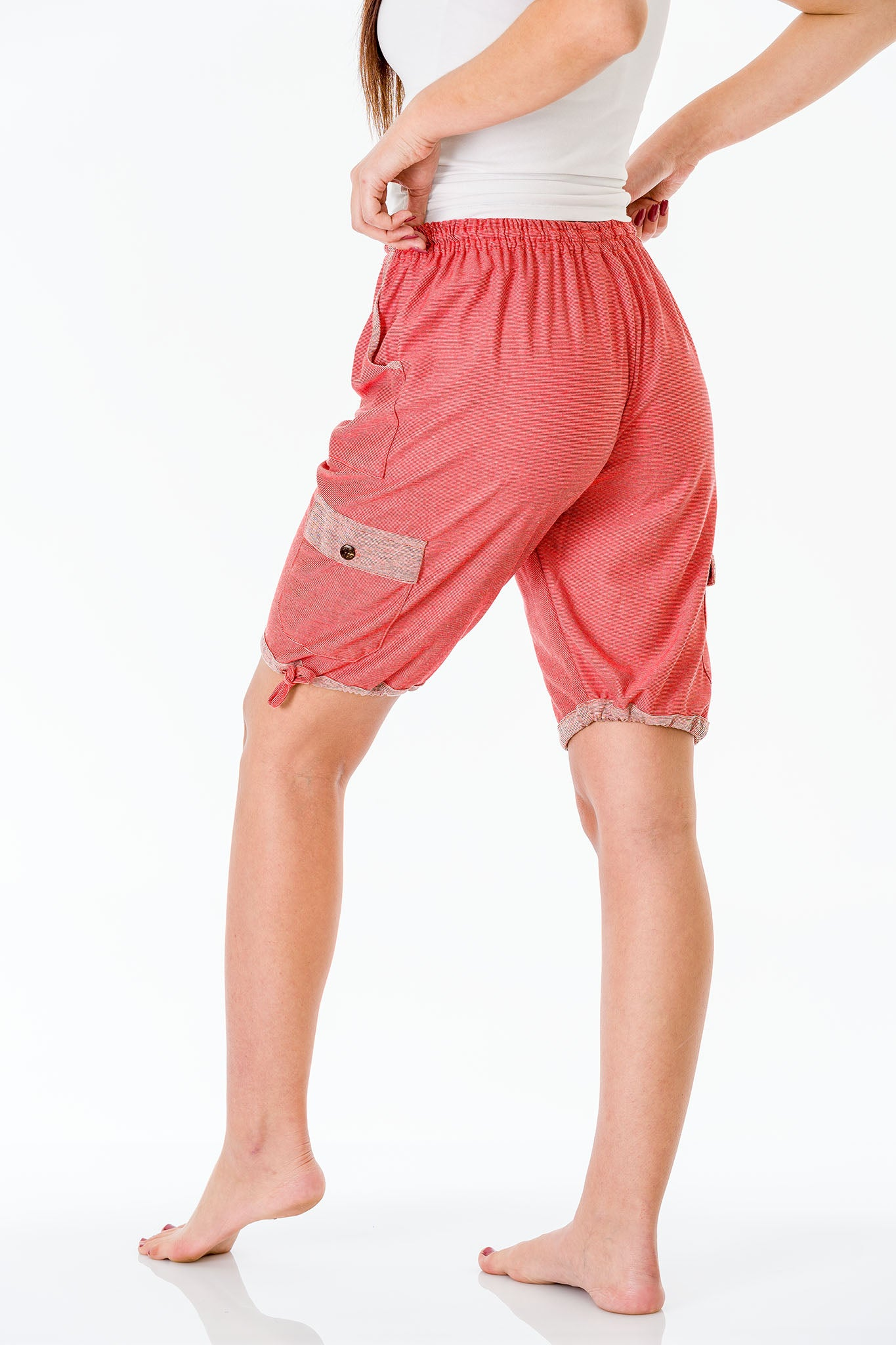 Blossom Pink Three Quarter Shorts