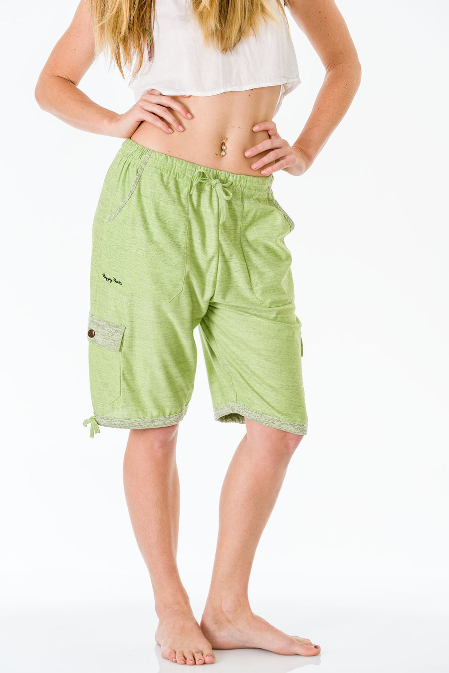 Apple Green Three Quarter Shorts