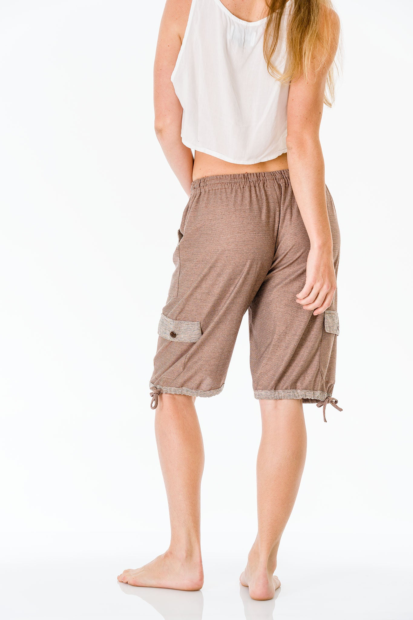 Chocolate brown Three Quarter Shorts