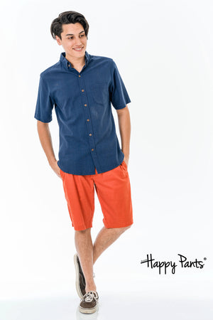 Short Sleeve Cotton Blue Shirt