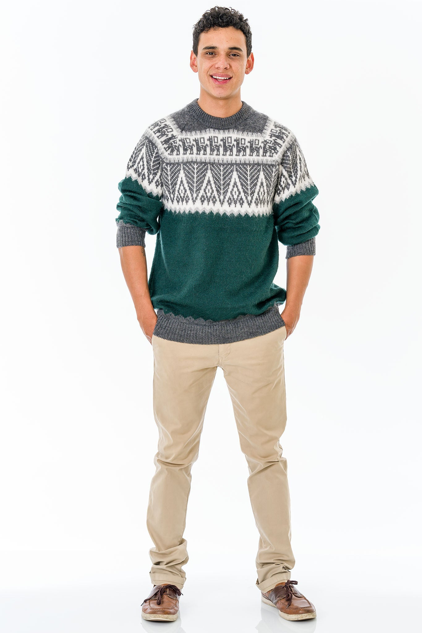 Green Alpaca Wool Sweater