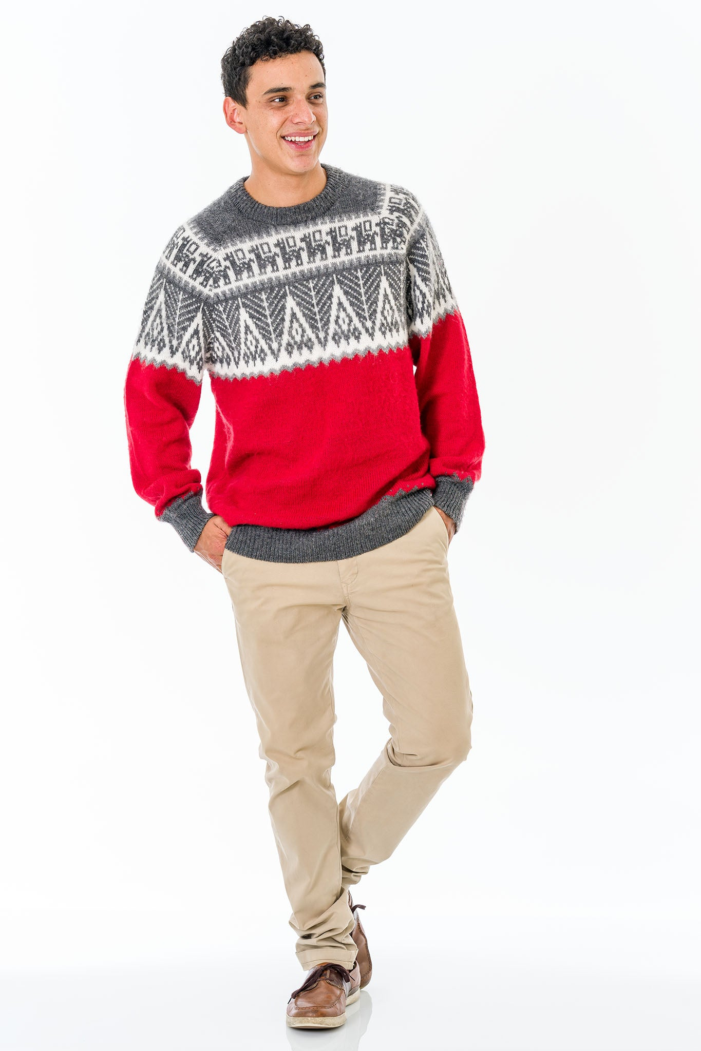 Red Alpaca Wool Sweater