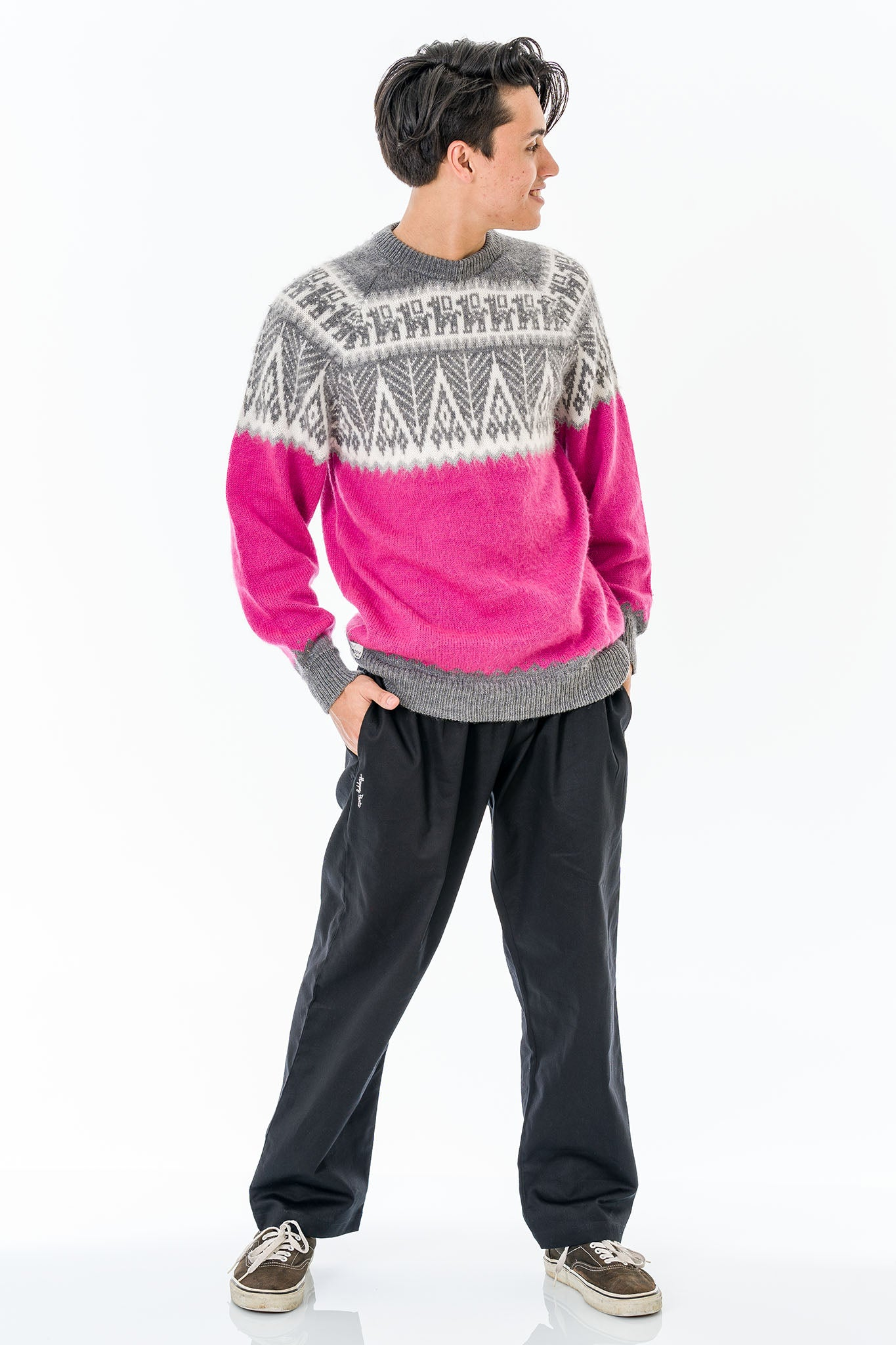 Pink Alpaca Wool Sweater