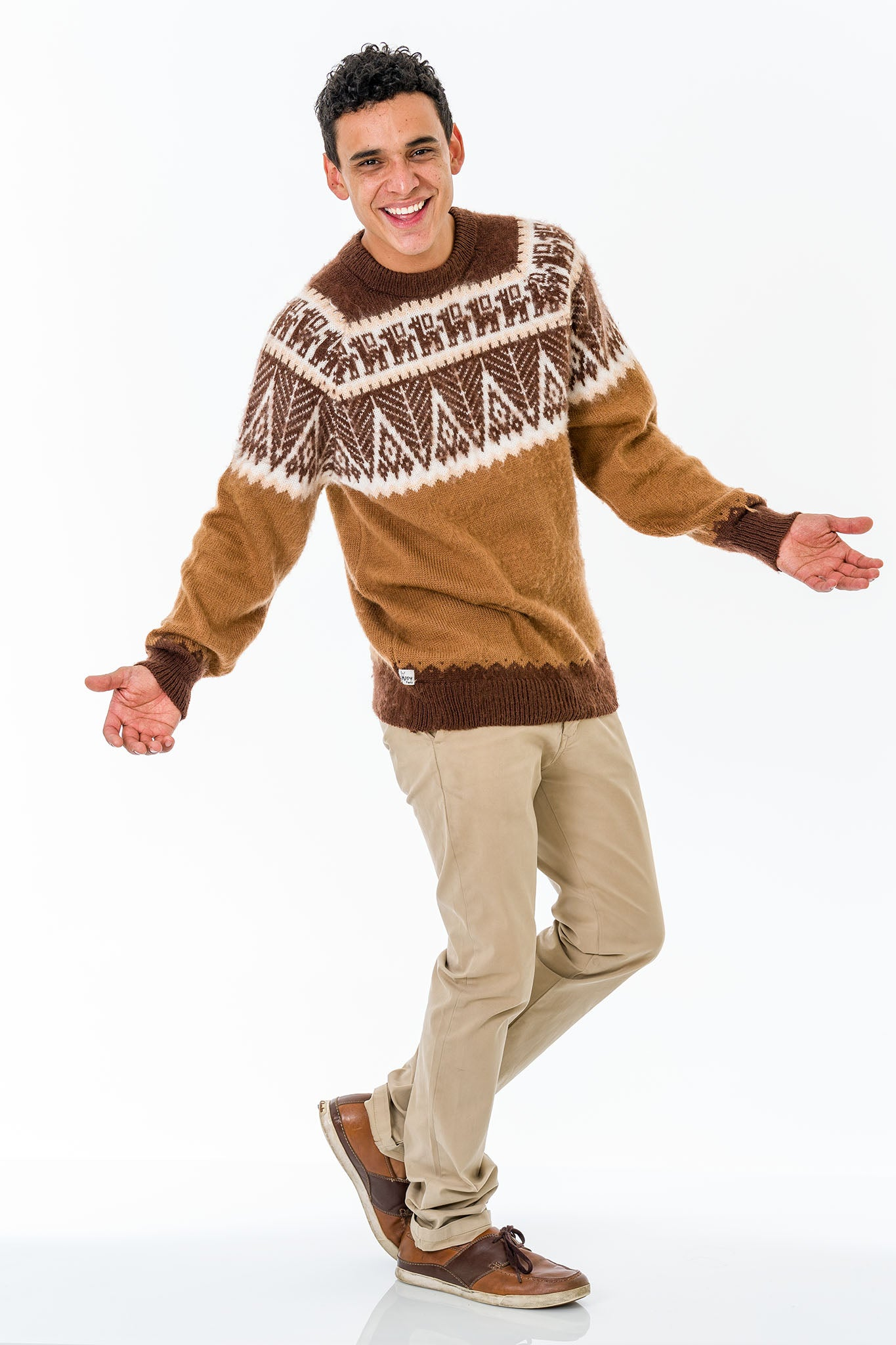 Brown Alpaca Wool Sweater