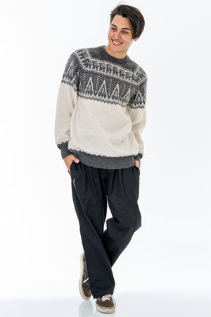 White Alpaca Wool Sweater