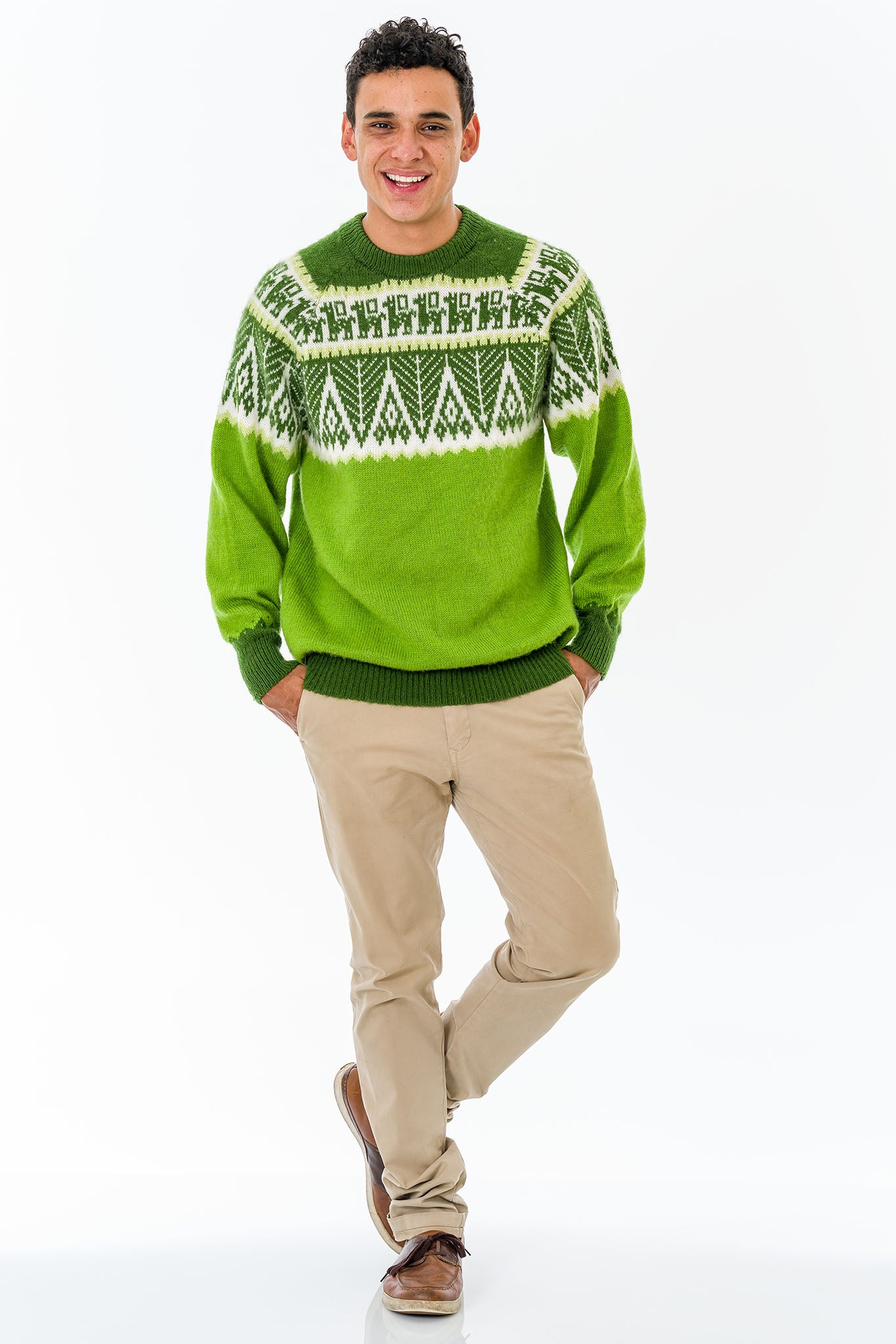 Apple Green Alpaca Wool Sweater