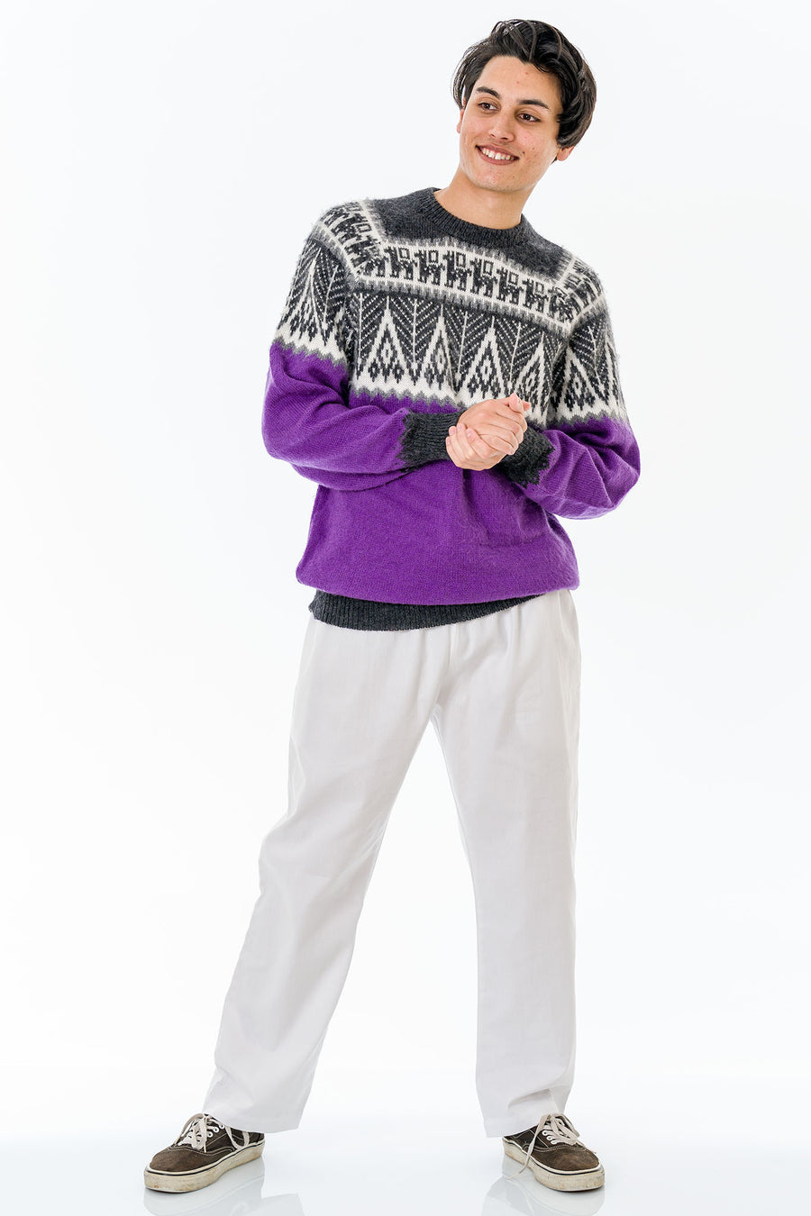 Purple Alpaca Wool Sweater