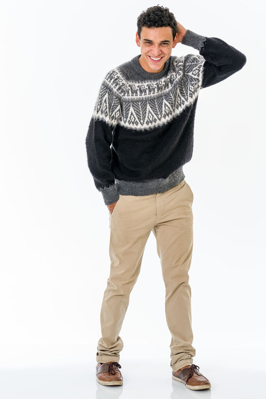Black Alpaca Wool Sweater