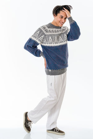 Ocean Blue Alpaca Wool Sweater